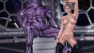 Alien Sex Striptease Show