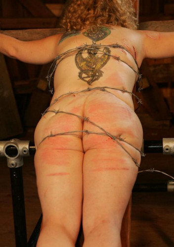 Scary barbed wire on the body