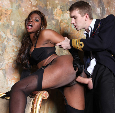 Ebony Girl Helps His Big Secular Cock