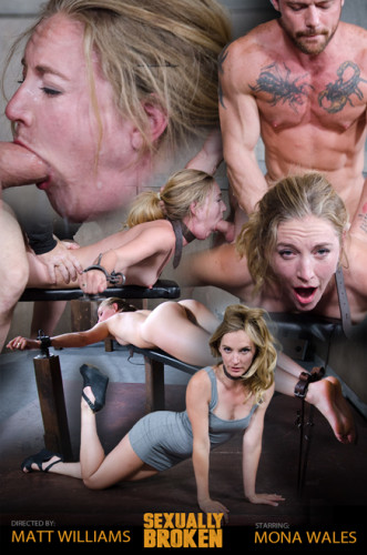 Mona Wales – Sexy Pale and Slim Mona Gets Pounded By Two Cocks in Fighter Jet Position!