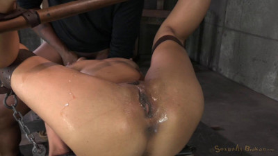 Lean Latina Lyla Storm completely destroyed by cock! Epic brutal deepthroat, massive orgasms on BBC!