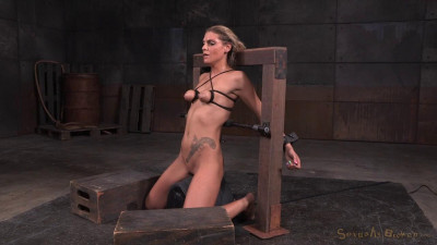 Tan Stevie Smith Shackled To Sybian