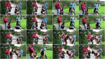 Public Orgy On The Street With Pregnant Woman And Cute Petite Girl - (1080)