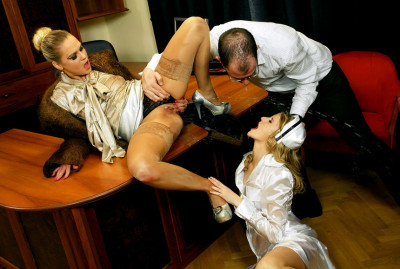 Kate & Barra Brass in the scene Piss Consultation With Doc And Nurse