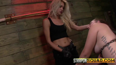 Three girls lesbian fisting and strap welcome