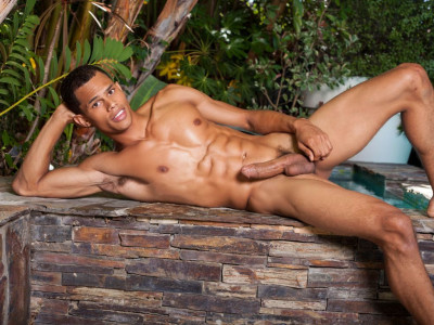 Straight Hunk Brandon Foster shoots cum out of his long black cock (porn star, gay fucking, first time, hungry hole)