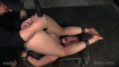 Compact cutie roughly fucked in piledriver postion