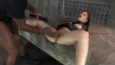 Pale Redhead Jessica Ryan Bound In A Straightjacket