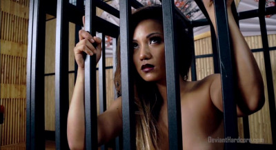 Caged Asian Cock Slut Lana Violet Fucked Hard