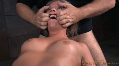 Madelyn Monroe bound on a sybain and utterly destroyed by dick!