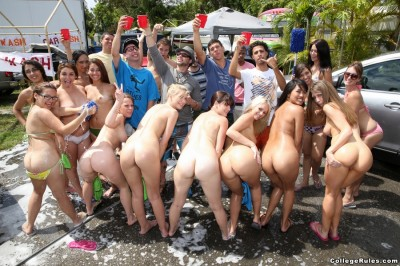 College Orgy Car Wash  16.05.13
