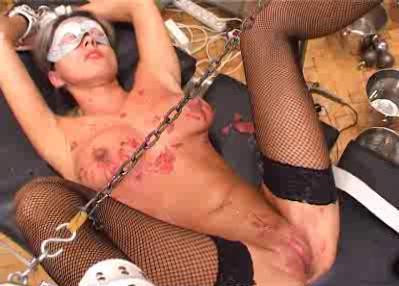 Blonde In Mask Tits Needles And Pussy Torture