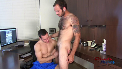 Maxx Fitch and Dalton Pierce Bareback office fuck staring
