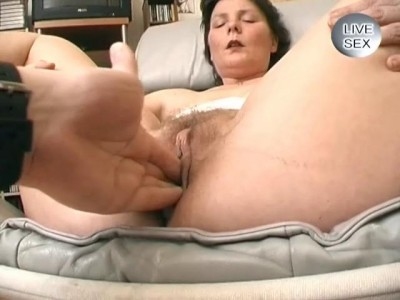 Mature woman gets facial