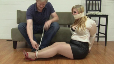 Jenna Holloway Hogtied Tickled Groped And Spanked (2015)