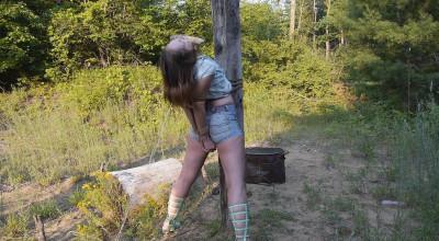 Punishing Outdoor Bondage for Rachel - Part 1