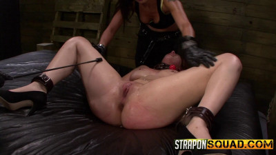 Straponsquad – Jul 24, 2015 – Pain Sub Slut Alessa Snow Endures Lesbian Domination