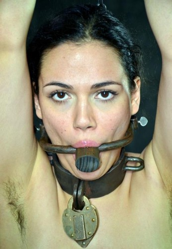 Beautiful woman in hard BDSM
