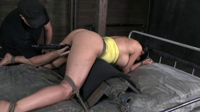 44 Year Old Super Cougar Sheila Marie Is Rope Bound, Throated And Double Fucked Into Submission