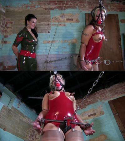 Super bondage, hogtie and torture for hot slut