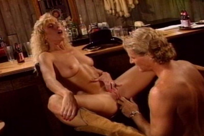 Blond Bar Slut Alex Sucks Cowboy's Cock