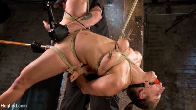 Masochistic Pain Slut in Bondage, Tormented, and Used for Her Holes