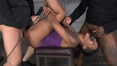 Skin Diamond Stuffed Full Of Dick From Both Ends, Bound Tight With Brutal Deepthroat