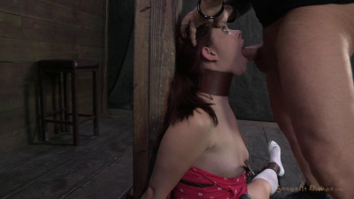 21yr Old Girl Next Door, Brutally Skull Fuck, Bound In Splits