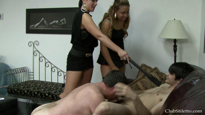Mistress T keeps her  on a tight leash, mentoring him on how to be a good lover