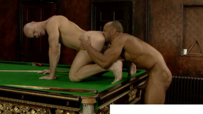 uncut cock deep inside hairy men first time (Snookered).