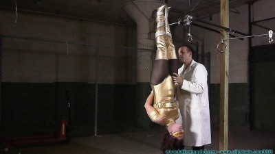 Fayth As The Golden Guardian Trapped, Captured, Stripped, Hung, Mummified, De-masked – Part 1