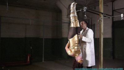 Fayth as The Golden Guardian Trapped, Captured, Stripped, Hung, mummified, De-masked - Part 1