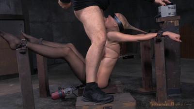 SexuallyBroken – Jun 26, 2015 – Big Breasted Blonde Rain DeGrey Belted Down On Fucking Machine