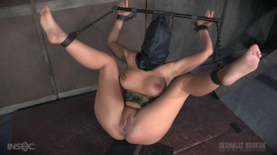 Hot Cougar Syren De Mer hooded brutally fuck bound non-stop squirting orgams! Part three (2016)