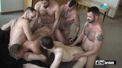 AllRealBareback Hotel Room Orgy Part 1