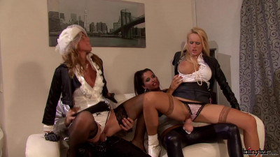 Nessa Devil, Crystalis, Welli - Strap-On Babe Pounds and Drenches Her Fuck Sluts (2011) FullHD
