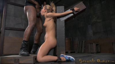 Adorable cutie Alina West strappado bound to sybain