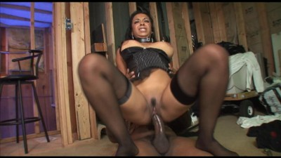 Ebony cock addict riding a BBC