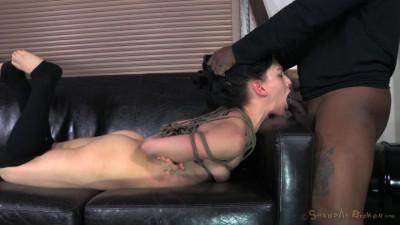Tiny Elise Graves ragdoll fucked, brutal deepthroat