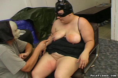 Ugly Fat Mature With Big Tits And Juicy Ass Is Tied In Ropes Spanked