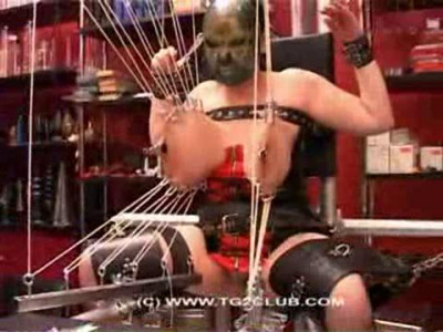 Now Tied With Legs And Pussy Lips Open Fully