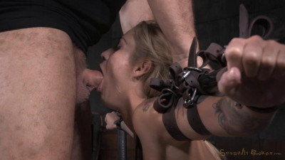 Kleio Valentien – Tattooed Hottie Bent In Half In Belt Bondage And Roughly Fucked (2015)