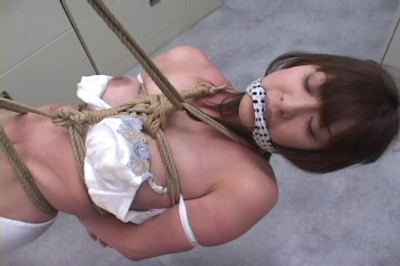 Beautiful Japanese woman in BDSM