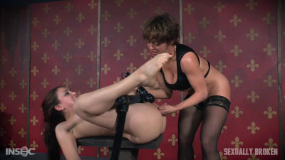 Mandy Muse Bound To A Table And Mercilessly Fucked From Both Sides