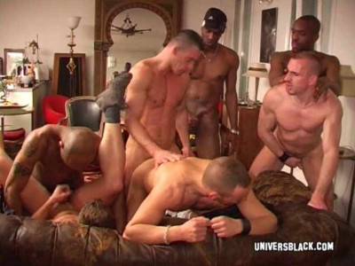 Black Studs & French Bottom In Hard Gangbang