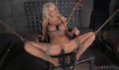 Bondage amazing blond slut