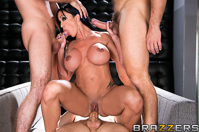 Busty MILF Decides To Take Them On With Every Hole She's Got