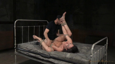 Tightly tied brunette Jennifer White roughly fucked bondage brutal deepthroat! (2015)