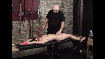 TB – Elise Bench Tied And Flogged
