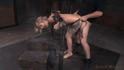Toned Tattooed Kleio Valentien Belt Bound Destroyed Drooling Deepthroat Rough Sex (2015)